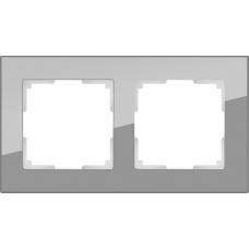 Рамка на 2 поста (серый,стекло) Werkel WL01-Frame-02