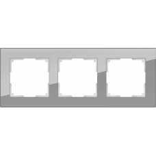 Рамка на 3 поста (серый,стекло) Werkel WL01-Frame-03