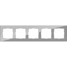 Рамка на 5 постов (серый,стекло) Werkel WL01-Frame-05
