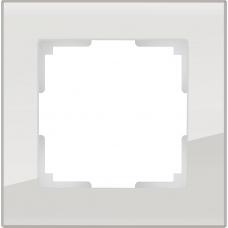 Рамка на 1 пост (дымчатый,стекло) Werkel WL01-Frame-01