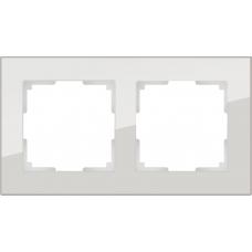 Рамка на 2 поста (дымчатый,стекло) Werkel WL01-Frame-02