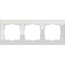 Рамка на 3 поста (дымчатый,стекло) Werkel WL01-Frame-03