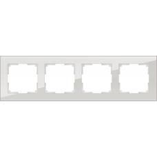 Рамка на 4 поста (дымчатый,стекло) Werkel WL01-Frame-04