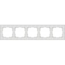 Рамка на 5 постов (белый) Werkel WL05-Frame-05-white