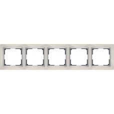 Рамка на 5 постов (слоновая кость) Werkel WL03-Frame-05-ivory