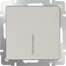 Выключатель одноклавишный с подсветкой (слоновая кость) Werkel WL03-SW-1G-LED-ivory
