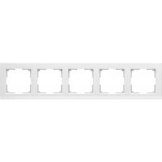 Рамка на 5 постов (белый) Werkel WL04-Frame-05-white