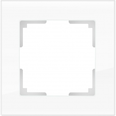 Рамка на 1 пост (белый,стекло) Werkel WL01-Frame-01