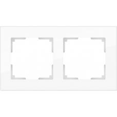 Рамка на 2 поста (белый,стекло) Werkel WL01-Frame-02