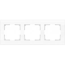 Рамка на 3 поста (белый,стекло) Werkel WL01-Frame-03