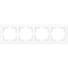 Рамка на 4 поста (белый, стекло) Werkel WL01-Frame-04