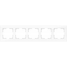 Рамка на 5 постов (белый,стекло) Werkel WL01-Frame-05