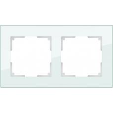 Рамка на 2 поста (натуральное стекло) Werkel WL01-Frame-02