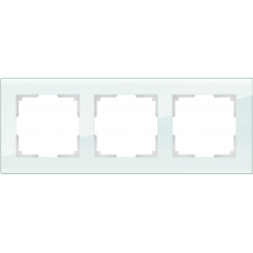 Рамка на 3 поста (натуральное стекло) Werkel WL01-Frame-03