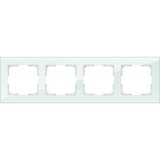Рамка на 4 поста (натуральное стекло) Werkel WL01-Frame-04