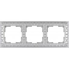 Рамка на 3 поста (жемчужный) Werkel WL07-Frame-03