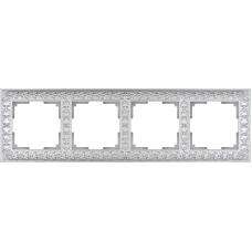 Рамка на 4 поста (жемчужный) Werkel WL07-Frame-04