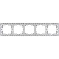 Рамка на 5 постов (жемчужный) Werkel WL07-Frame-05