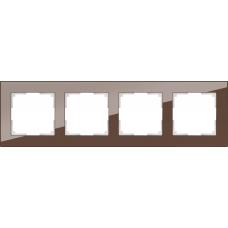 Рамка на 4 поста (мокко) Werkel WL01-Frame-04