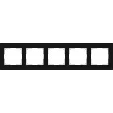 Рамка на 5 постов (черный) Werkel WL01-Frame-05