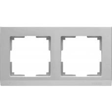 Рамка на 2 поста (серебряный) Werkel WL04-Frame-02