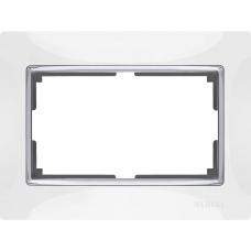 Рамка для двойной розетки (белый) Werkel WL03-Frame-01-DBL-white