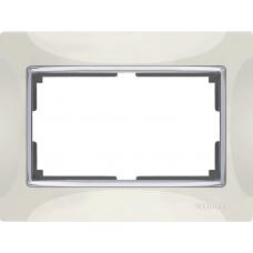 Рамка для двойной розетки (слоновая кость) Werkel WL03-Frame-01-DBL-ivory