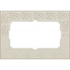 Рамка для двойной розетки (слоновая кость) Werkel WL05-Frame-01-DBL-ivory