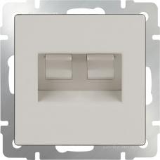 Розетка двойная Ethernet RJ-45 (слоновая кость) Werkel WL03-RJ45+RJ45 -ivory