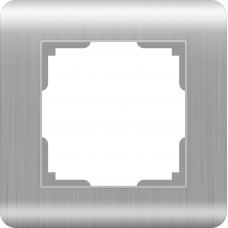 Рамка на 1 пост (серебряный) Werkel WL12-Frame-01