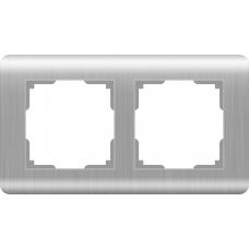 Рамка на 2 поста (серебряный) Werkel WL12-Frame-02