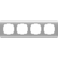 Рамка на 4 поста (серебряный) Werkel WL12-Frame-04