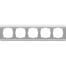 Рамка на 5 постов (серебряный) Werkel WL12-Frame-05