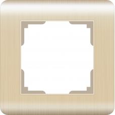 Рамка на 1 пост (шампань) Werkel WL12-Frame-01