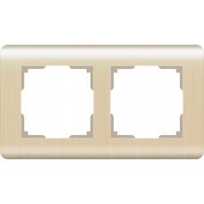 Рамка на 2 поста (шампань) Werkel WL12-Frame-02