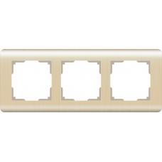 Рамка на 3 поста (шампань) Werkel WL12-Frame-03