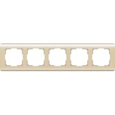 Рамка на 5 постов (шампань) Werkel WL12-Frame-05